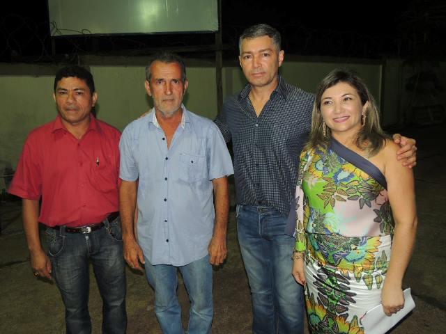 Prefeito Miguel Caetano e o procurador geral do MP, Roberto Álvares