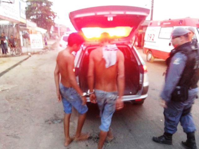 Bandidos que estavam no banco de trás não tiveram ferimentos