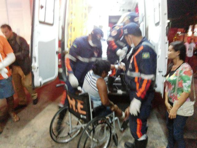 Maria das Graças foi ferido na perna. Os bandidos fugiram: Fotos: Olho de Boto
