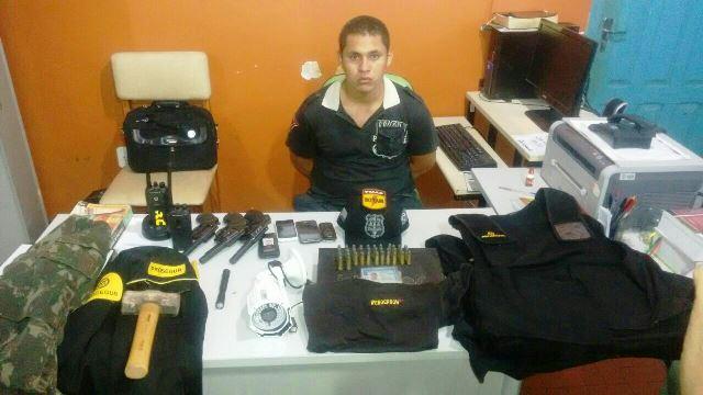 Ricardo foi preso depois da morte de Wenderson, também no São Lázaro. Polícia recuperou todo o material roubado