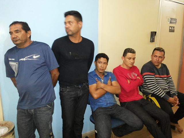 Cinco dos seis membros da quadrilha que foi presa pelo NOI
