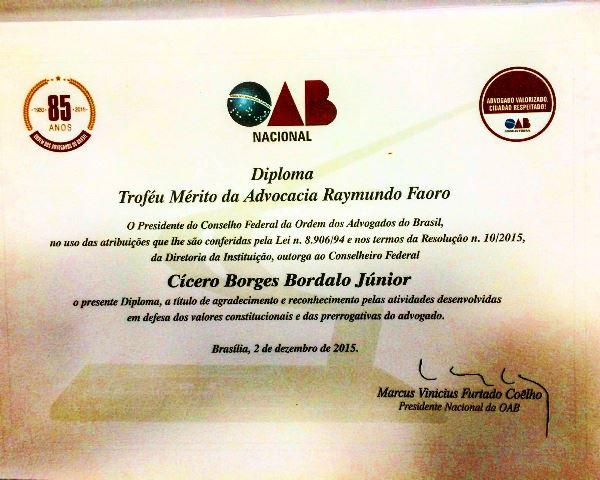 Prêmio concedido a profissionais com destaque em âmbito nacional. Foto: Divulgação