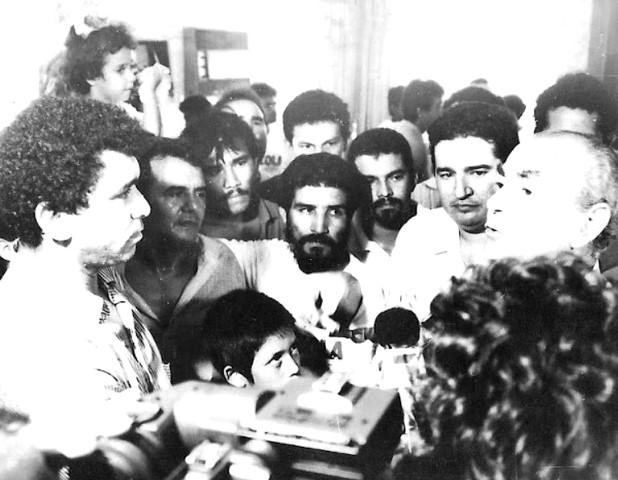 Entrevistando Leonel Brizola, então candidato à Presidência em 1987