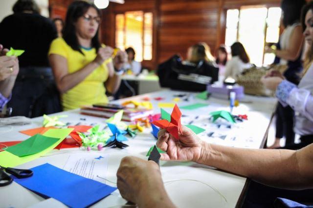 Oficina de origami será uma das atrações da programação. Foto: divulgação