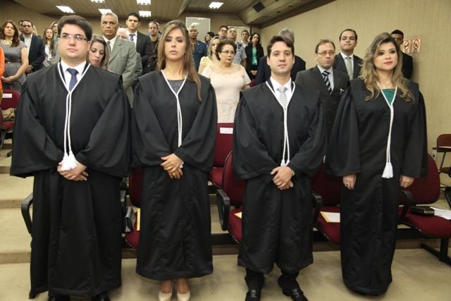Os quatro juízes empossados são de outros estados. Fotos: Ascom/Tjap