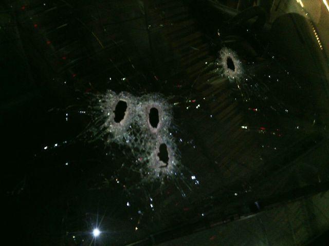 Detalhe da viatura do BRPM. 4 tiros