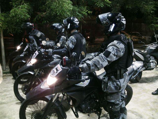Equipes do Bope foram até a Rodovia Norte-Sul e encontraram os criminosos