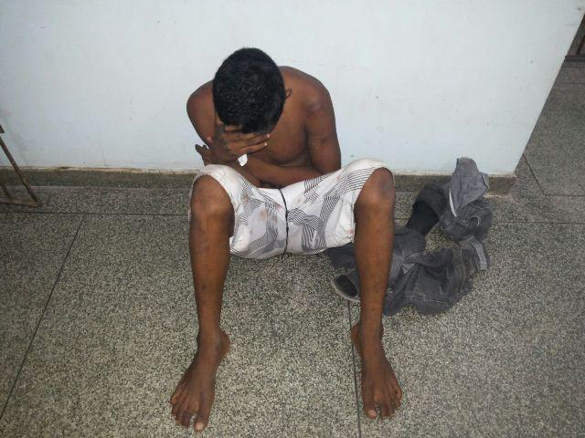 Cercado por populares, bandido tentou enganar dizendo que ele era a vítima