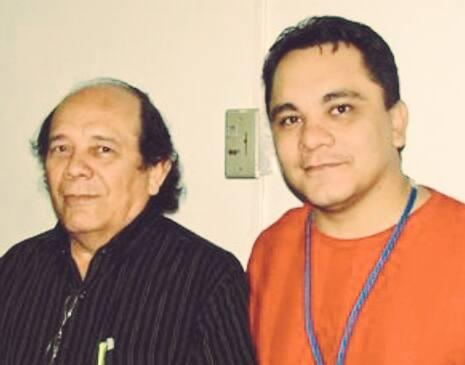 Rodrigo e o pai, Rodolfo Juarez. Eles se separaram, mas sobreviveram: Foto: Arquivo pessoal