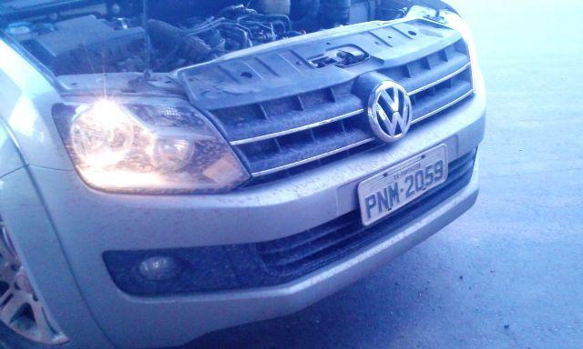 Amarok recebeu placas falsas. Número do motor revelou que veículo foi roubado no estado do Ceará