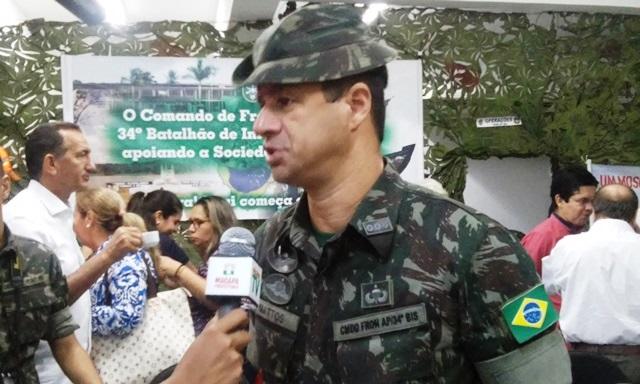 Comandante do Exército, coronel Matos: evitar epidemia no Amapá