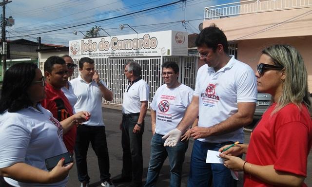 Secretária de Saúde do Amapá, Renilda Costa, com procurador geral do Estado Narson Galeno e deputado Furlan. Fotos: Cássia Lima