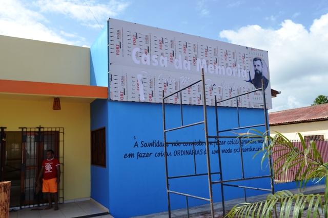 Casa de apoio sendo construída no Bairro Açaí