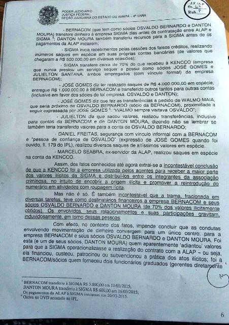 Trecho do pedido do MPF. Empresa de fachada para beneficiar a Bernacom