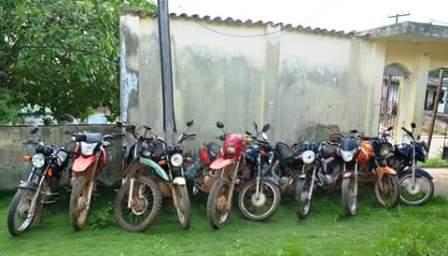 Motos foram apresentadas na delegacia de polícia
