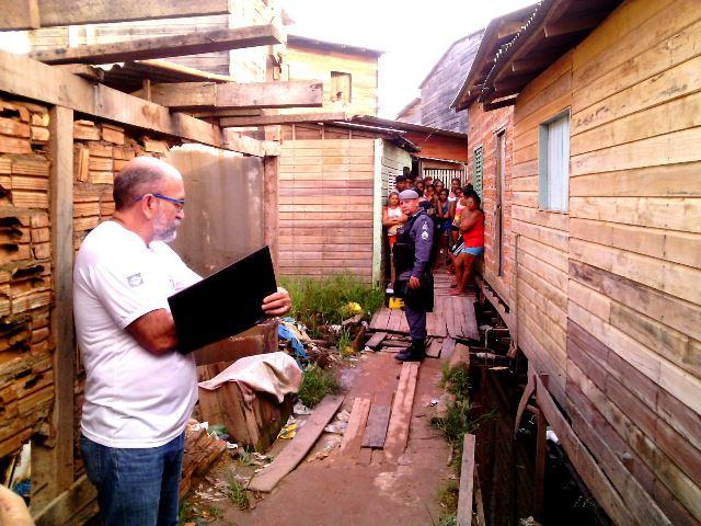 Crime aconteceu numa comunidade chamada de Beco Dois da CPA. Fotos: Olho de Boto