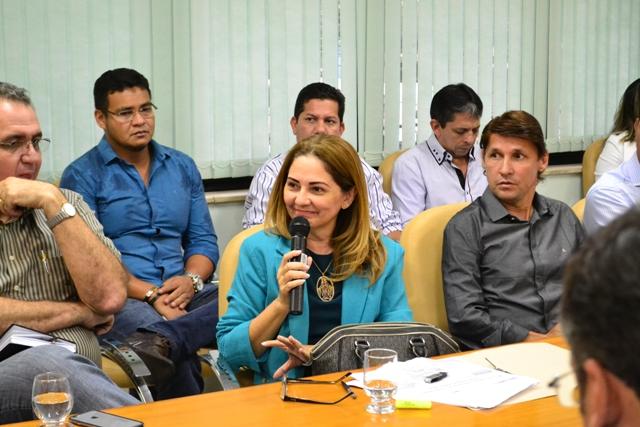 Tânia Barroso, chefe da Suframa no Amapá participou da reunião