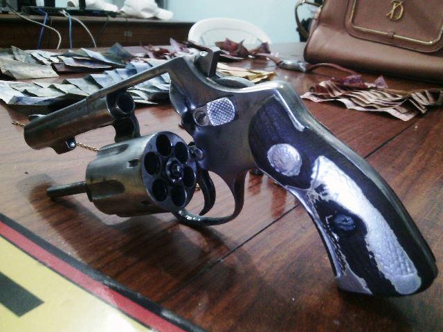 Arma usado pelo bandido foi apresentada com 3 munições deflagradas