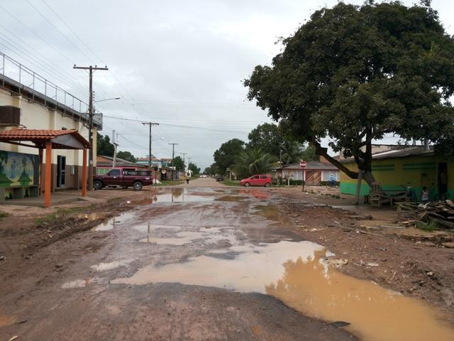 Rua no Bairro Brasil Novo: pavimentação e infraestrutura foram medidos pelo instituto