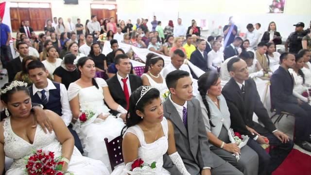 Casamento realizado para detentos do Iapen em uma das edições. Fotos: Divulgação