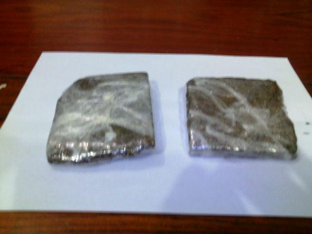 Dois tabletes com mais de 300 gramas. Fotos: Olho de Boto