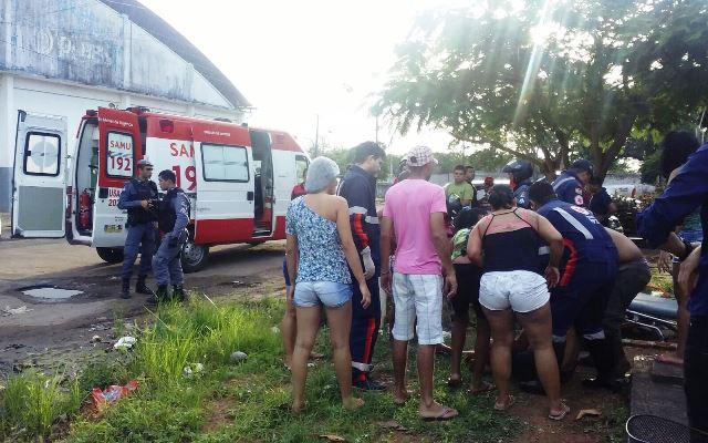 O acusado foi preso alguns metros depois gravemente ferido