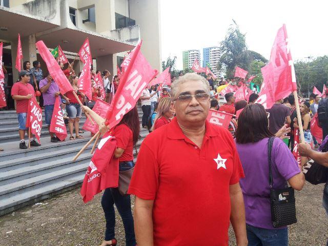 Presidente do PT, Joel Banha: participação de sindicatos