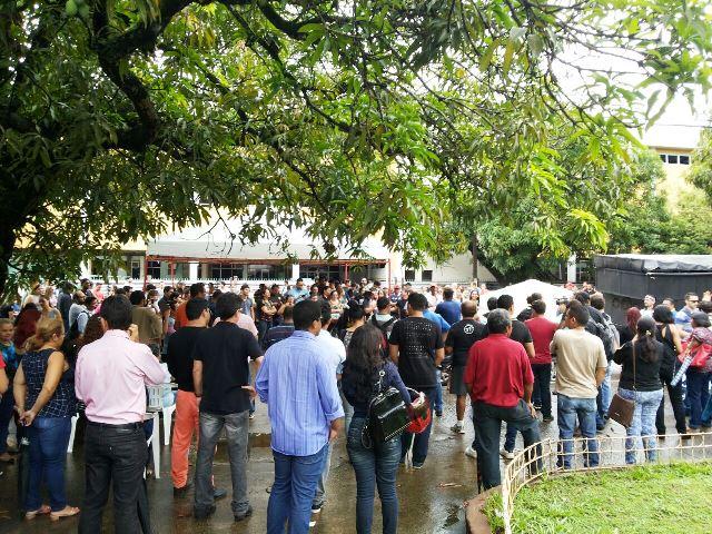 28 de marco: protesto de servidores dois dias depois do anúncio do parcelamento. Foto: Cássia Lima