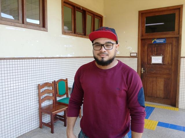 Líder estudantil, Fábio Luis: contingenciamento