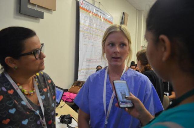 Médica americana voluntária