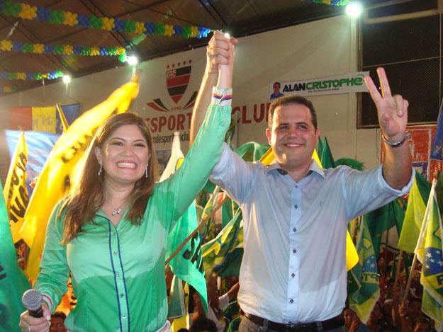 Com Aline Gurgel, sua candidata à vice em 2014. Fotos: Arquivo