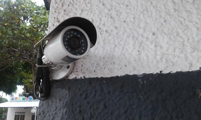 Câmeras foram instaladas em pontos estratégicos. Fotos: Cássia Lima