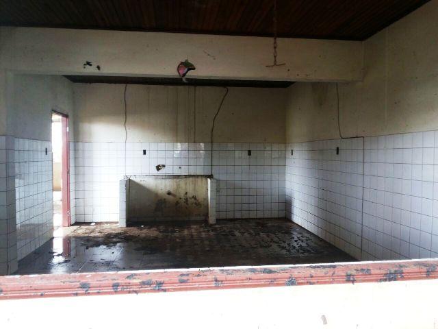 Espaço onde funcionava a cozinha