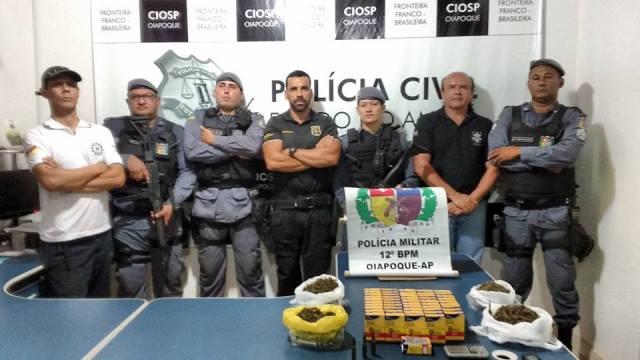 Equipes que prenderam o motorista de fuga. Fotos: Ciosp Divulgação