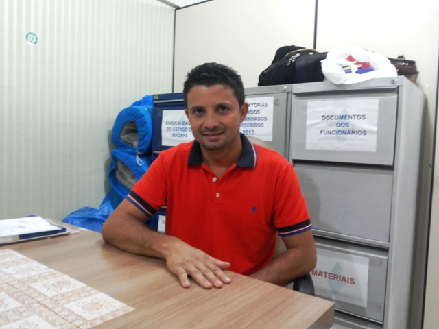 Ismael Cardoso, presidente do Sindsaúde: greve de cinco dias ou mais. Foto: André Silva