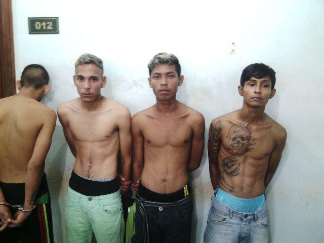 Os 4 envolvidos foram presos. Fotos: Olho de Boto