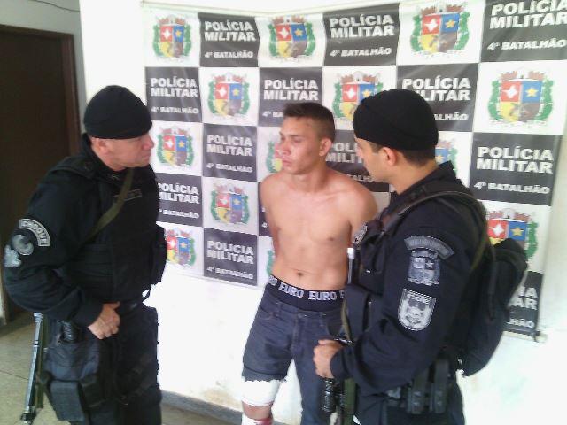 Luciano Pantoja, de 22 anos, foi capturado no Bairro Fonte Nova