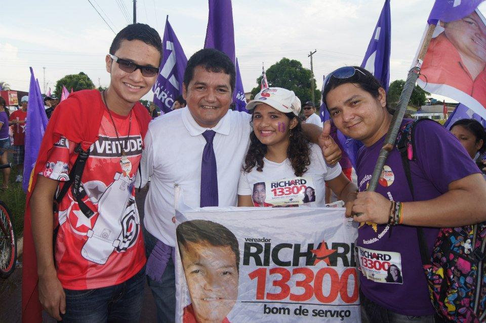 Richard Madureira nos tempos de PT. Foto: Arquivo pessoal