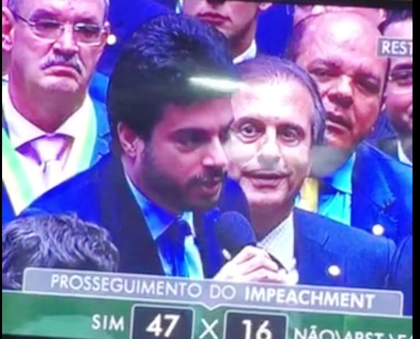 Vinícius Gurgel ao declarar sua abstenção no último domingo, 17. Foto: Reprodução