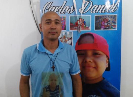 Agenilson Pereira, pai de Carlos Daniel que morreu vítima de câncer