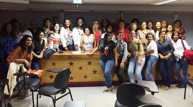 Diretório nacional reuniu mulheres candidatas a vereadoras e prefeitas. Foto: PT/Divulgação