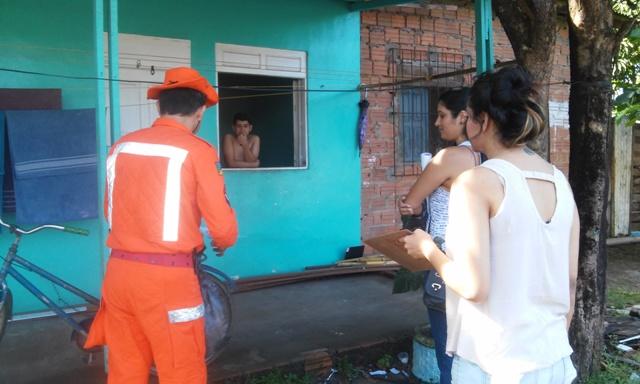 Açāo percorreu casas dos bairros Novo Buritizal e Congós