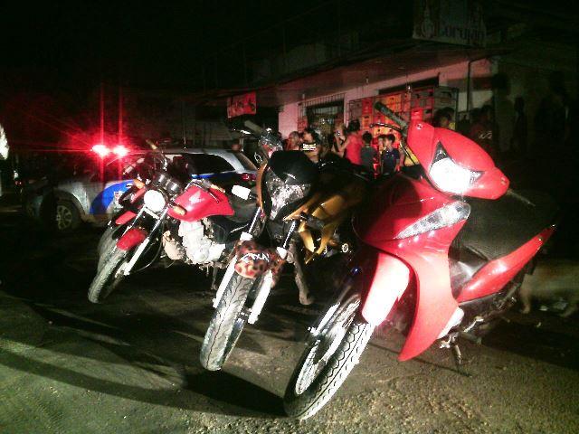 Motos foram furtadas na madrugada da última quinta-feira, 5. Fotos: Olho de Boto