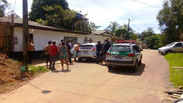 Casa onde o crime ocorreu no Bairro Marabaixo. Foto: PM/Divulgação