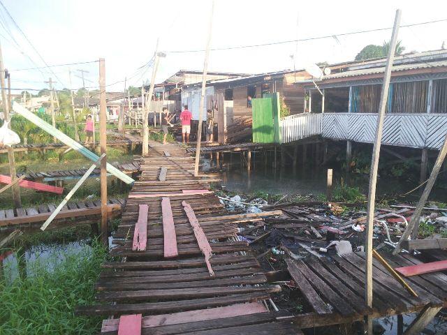 Área de ponte fica no final da rua Guaranis, no Buritizal
