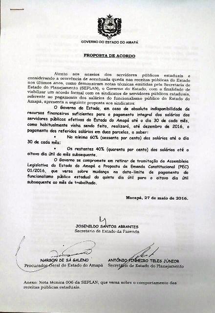 Proposta apresentada pelo governo retira item . Fotos: André Silva