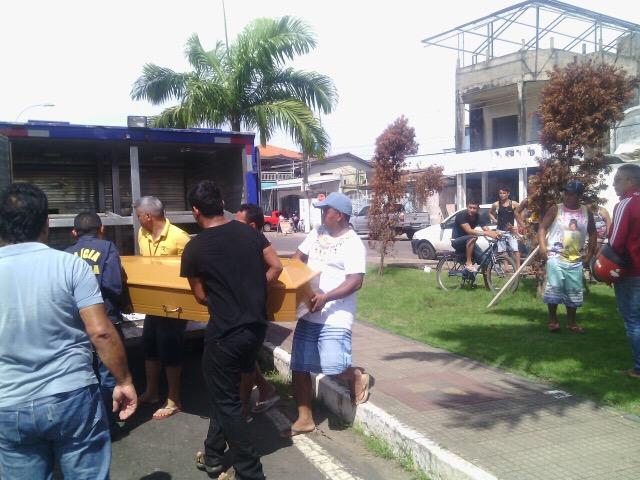 Após necropsia, corpo será levado para ser sepultado no município paraense de Afuá
