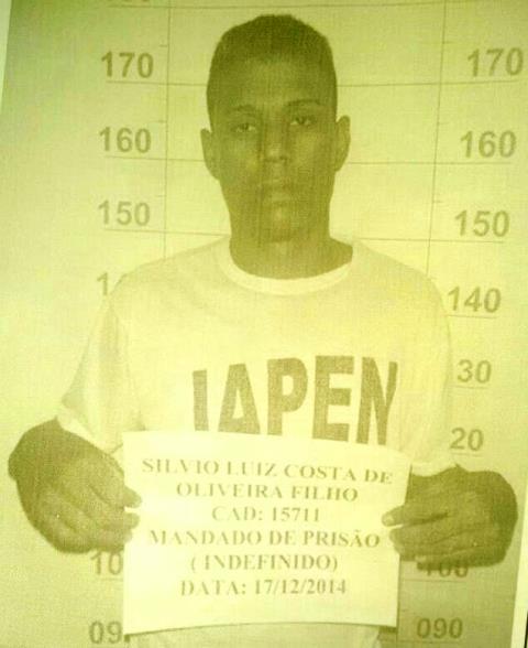 Detento foragido. Foto: Iapen/Divulgação