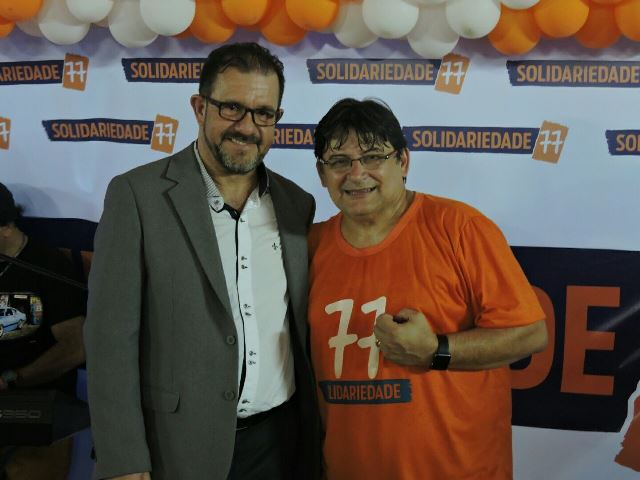 Novo presidente do Solidariedade, Max da AABB, e Carlos Ortiz, diretor da executiva nacional