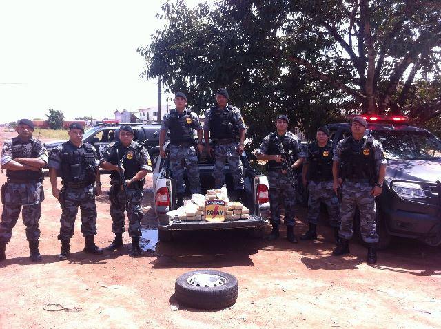 Policiais da Rotam/Bope que participaram da maior apreensão do ano de maconha